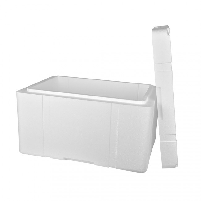 caja 37l poliestireno expandido 50mm para una perfecta. Black Bedroom Furniture Sets. Home Design Ideas